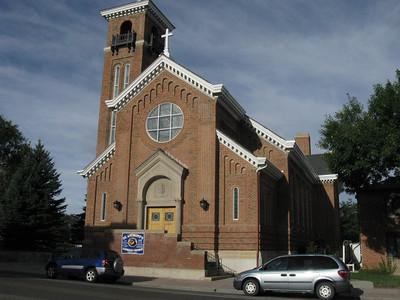 Sept 1st, 2010:.. St Anthony's Catholic Church - where we were baptized on 9/26/43.