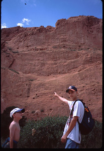 Yep, we were way up there.  .. You guys rock - BUT can you still rock 15 years later in 2011 ?? Check out Roberta and Patrick topping out in their first Sibling visit - Nov 2006:  http://gnarlybill.smugmug.com/Aunt-Marylou/Oliver-Siblings-Rock-in-COS/2152579_rpDMy#111712596_m52vy ... climb is near end of gallery.
