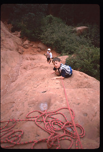 Not the best rock climbing technique, but this is how we all start.