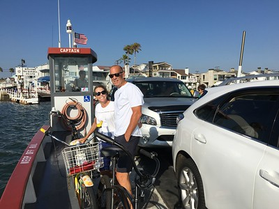 OK, Thursday, August 4th - After a tough afternoon of paddle boarding around Balboa Island, now setting off by ferry .