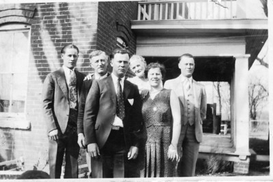Late '30s or early '40s.  L-R: Boyd, Grandpa Jamie, Carson, Grandma Jamie, Katherine & Milt.