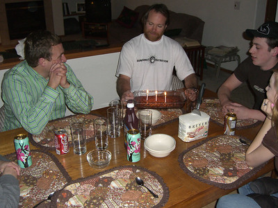 Celebrating Patrick's birthday - one day early. It was great having you in Colorado, Patrick - come again soon.