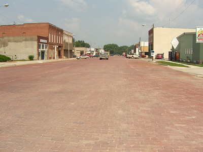 Right - I asked everyone to clear the street for my photo!  :) Paving the streets in brick is sweet!