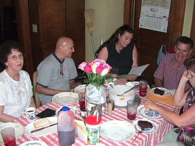 Lunch Friday at Gary and Maria's home.   Deanna and Art Paul, Marcy, Juan and Terri Jamison (Uncle Woody's first family).