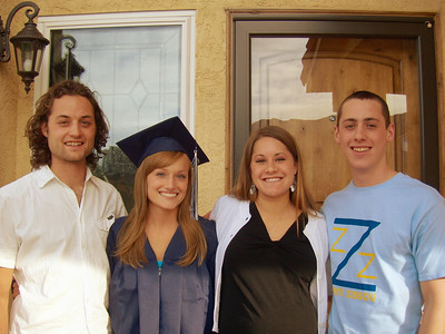 The siblings.  Can you tell Lindsay is only a few weeks away from delivering Brayden? The next day was Kyle's college graduation!