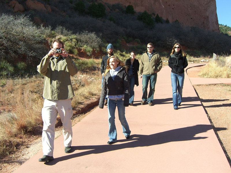 Time to get gnarly - in Garden of the Gods. [Jason couldn't make it, but we think he's still gnarly.]