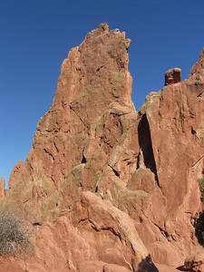 That's Montezuma's Tower, with the infamous North Ridge on the left side.
