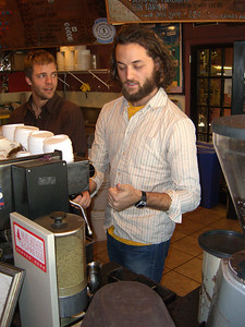 We drove Eric back up to Denver - and he treated us as royalty at the famous Koladi Brothers coffee brewshop, where he works.