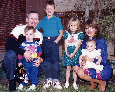 Dick's second family, in Colorado Springs - Oct '90.  Jason 2.5, Eric 9, Lindsay 5.5, Kelly 0.5 and Pam.