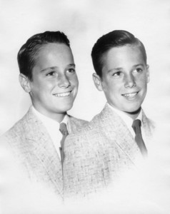 June birthday '56 - age 13.  Bill left. Bow ties were definitely out by '56!