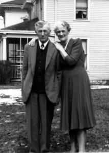 Grandpa and Grandma Jamie - 50th Anniv. in Leavenworth, KS, Feb. 1942. Grandpa passed away on 9/18/43, followed by Grandma on 3/1/54.