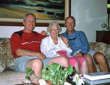 Dick, Mom and Bill in Las Vegas - July 2001. From Madison, the folks had relocated to Las Vegas in 1986, where Dad passed away on 2/25/89.
