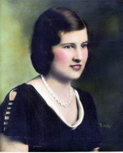 Undated.  Marylou Jamison about, say, age 21. Mom moved to LA in 1930 after high school, living with the family of her sister, Ruth.
