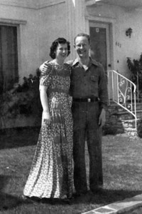 Marylou and Jack at home in LA before the War.