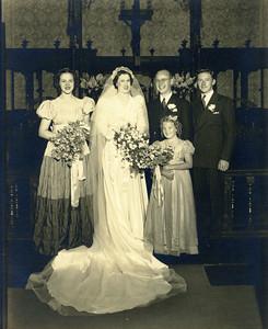 Mary Eleanor Wiehe - bridesmaid; Virginia Maier - junior bridesmaid. [Best Man now unknown.]