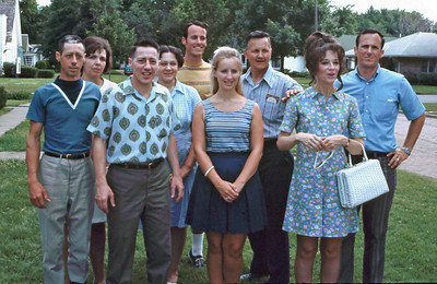 Some first cousins - L-R: Gary, Betty, Bernard, Mary Eleanor, Bill, Rose Anne, John, Marilyn and Dick.
