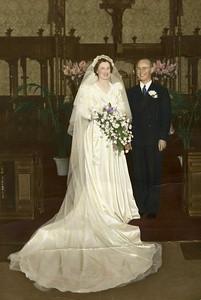 Marylou & Jack Oliver Wedding - 9/21/40 at St Paul's Catholic Church in Westwood (West LA), CA.
