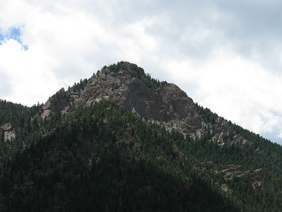 It tops out at 9368', a gain of close to 2K feet in less than two miles - so fairly steep.