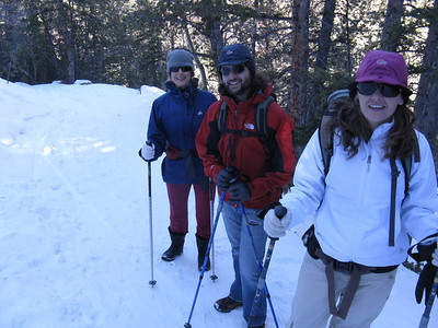 Yes - a snow hike to Horsethief Falls, on the west side of Pikes Pk. L-R: Jessica, Eric & Roberta.