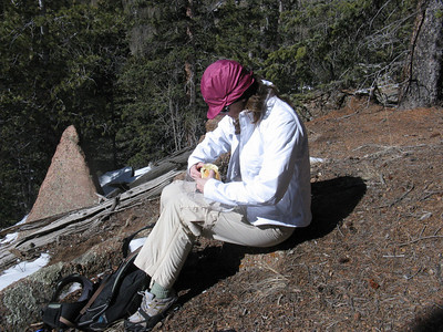 Hey, noon - perfect time for lunch on the trail.