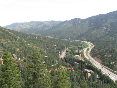 Looking north up toward Ute Pass.
