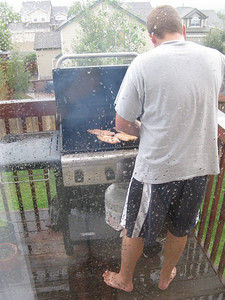 In Colorado people bbq with or without rain!