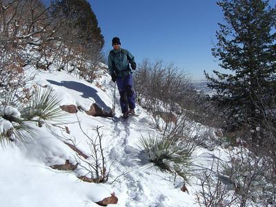 Rising above Colorado Springs.