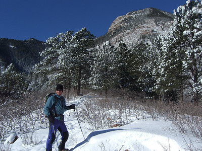 This dude is eager to explore Colorado's winter wonderland.