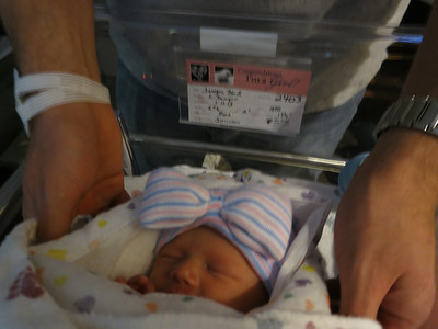 Sawyer, BG (Baby Girl) #1 - 5 lb, 6 oz, 19 in.  It's either Brynlee Hope or Brooklyn Grace - I can't keep track.