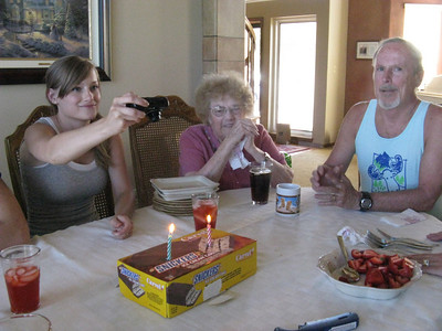June 29, 2010 - celebrating the 67th birthday of the Oliver twins at Richard's home.