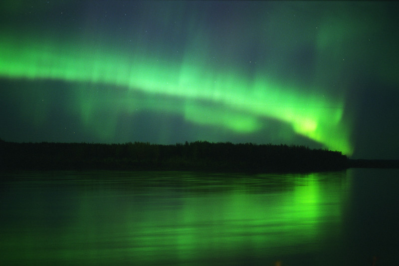 Northern Lights at the Yukon River