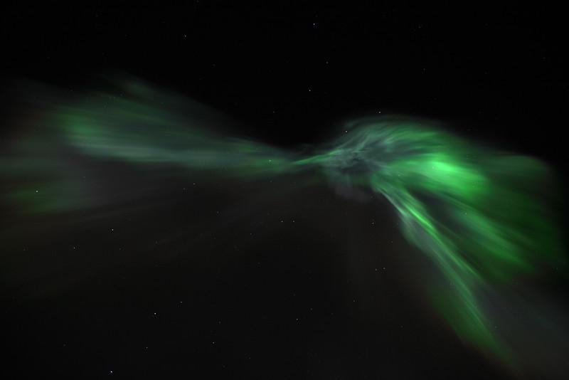 Aurora Borealis Corona (overhead) on March 1, 2011 - Circle, Alaska