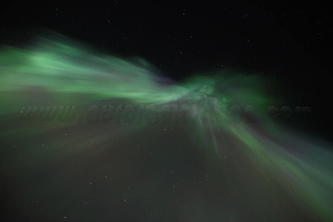 Aurora Borealis Corona on March 1, 2011 - Circle, Alaska