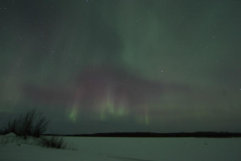 Aurora Borealis at the Yukon River - March 1, 2011 - Circle, Alaska