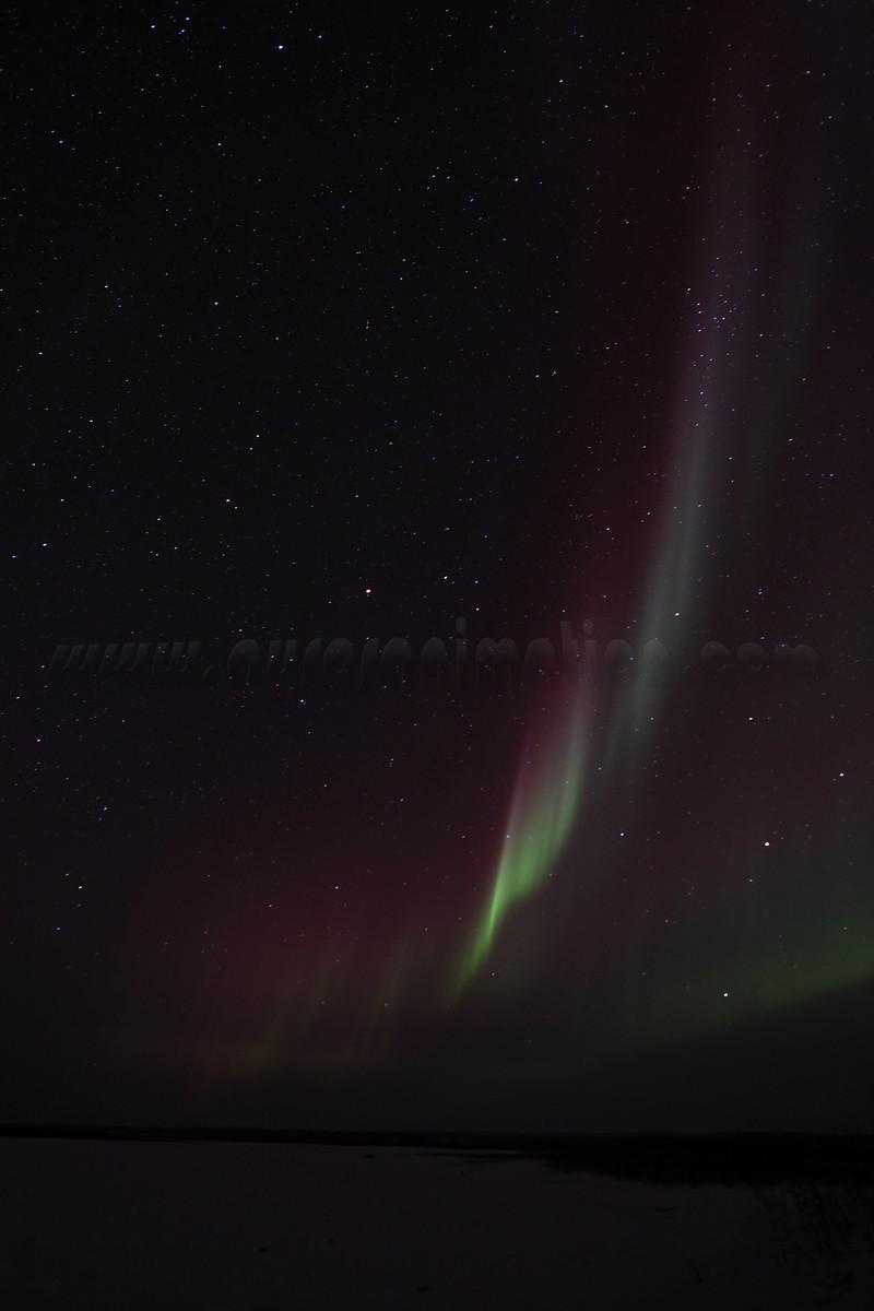 Northern Lights at the Yukon River - March 1, 2011 - Circle, Alaska