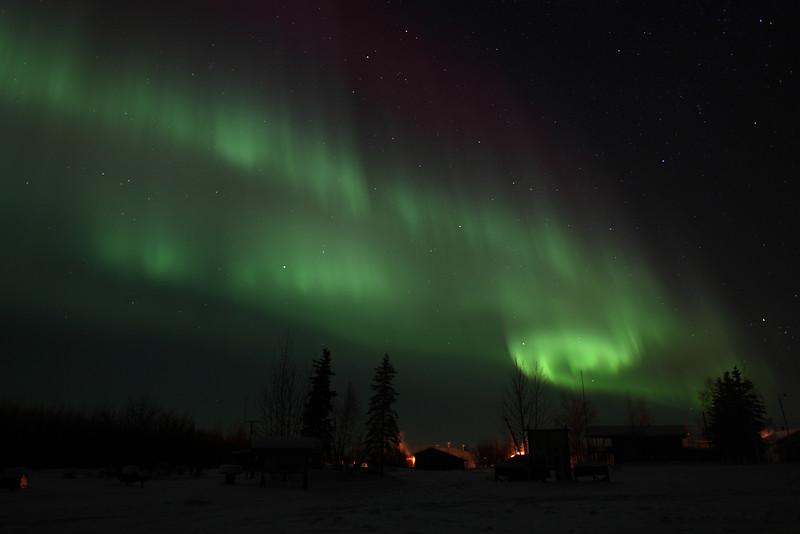 Northern Lights over Circle, Alaska on March 1, 2011