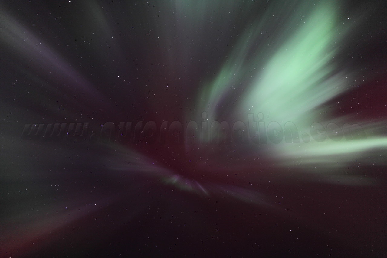 Colorful corona in Canis Major at 01:58 AM on March 17, 2013 - Arctic Circle, Alaska<br /> <br /> Canon 5D MKII with EF 24mm f/1.4L II