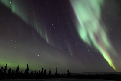 Colorful Northern Lights at 02:46 AM on March 17, 2013 - Arctic Circle, Alaska  Canon 5D MKII with EF 24mm f/1.4L II