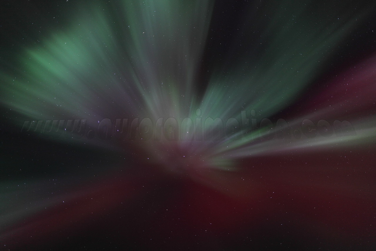 Bright and colorful corona in Canis Major at 01:57 AM on March 17, 2013 - Arctic Circle, Alaska<br /> <br /> Canon 5D MKII with EF 24mm f/1.4L II