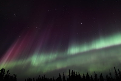 Colorful Northern Lights at the Arctic Circle in Alaska on March 17, 2013 - 01:33 AM<br /> <br /> Canon 5D MKII with EF 24mm f/1.4L II