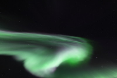 Bright and colorful corona at 11:34 PM on March 16, 2013 - Arctic Circle, Alaska  Canon 5D MKII with EF 24mm f/1.4L II