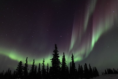 Northern Lights at the Arctic Circle in Alaska on March 17, 2013 - 00:09 AM  Canon 5D MKII with EF 24mm f/1.4L II