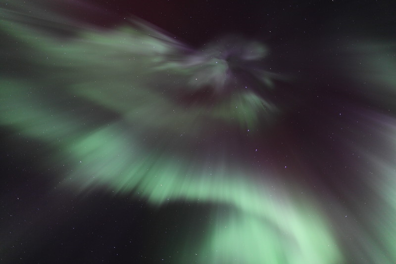 Colorful corona in Canis Major at 02:00 AM on March 17, 2013 - Arctic Circle, Alaska<br /> <br /> Canon 5D MKII with EF 24mm f/1.4L II
