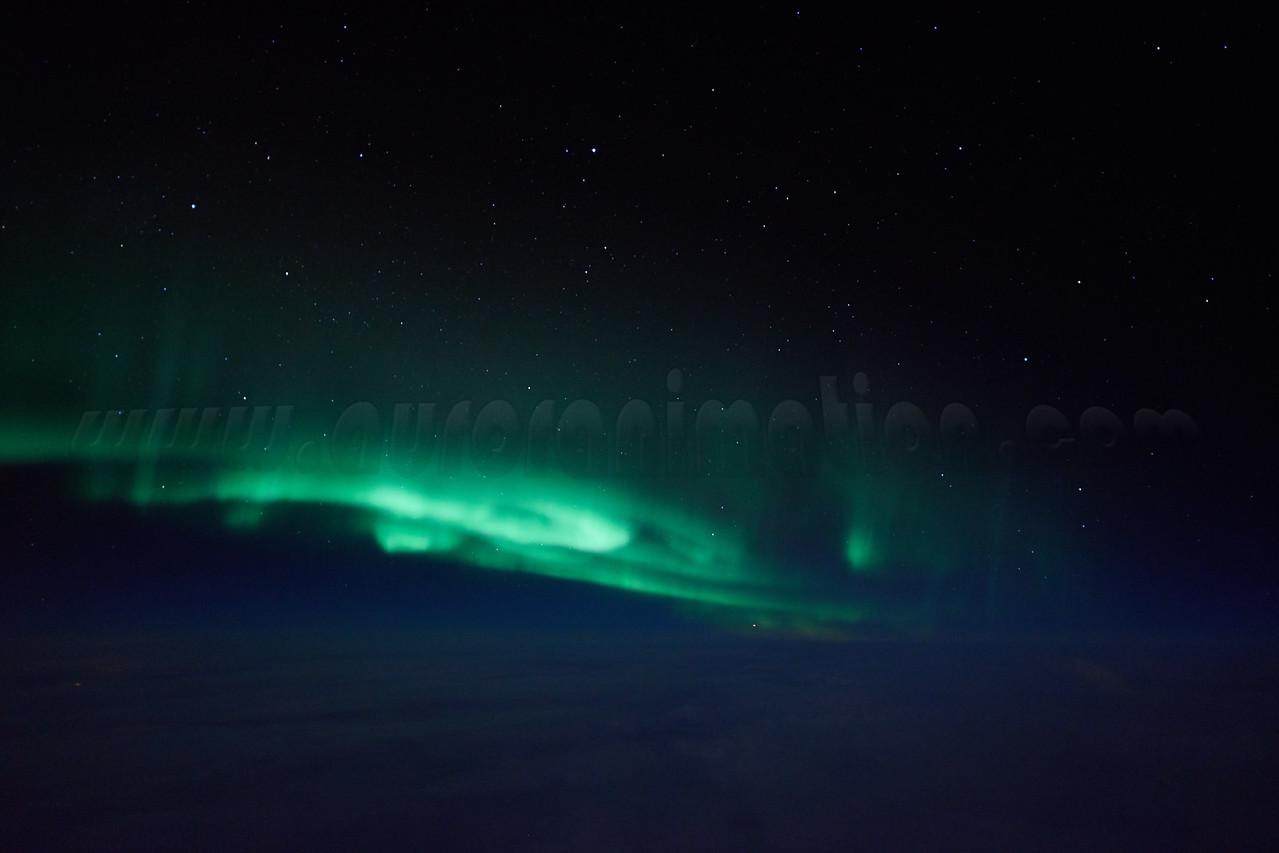 Bright auroral display captured at 12:52 AM