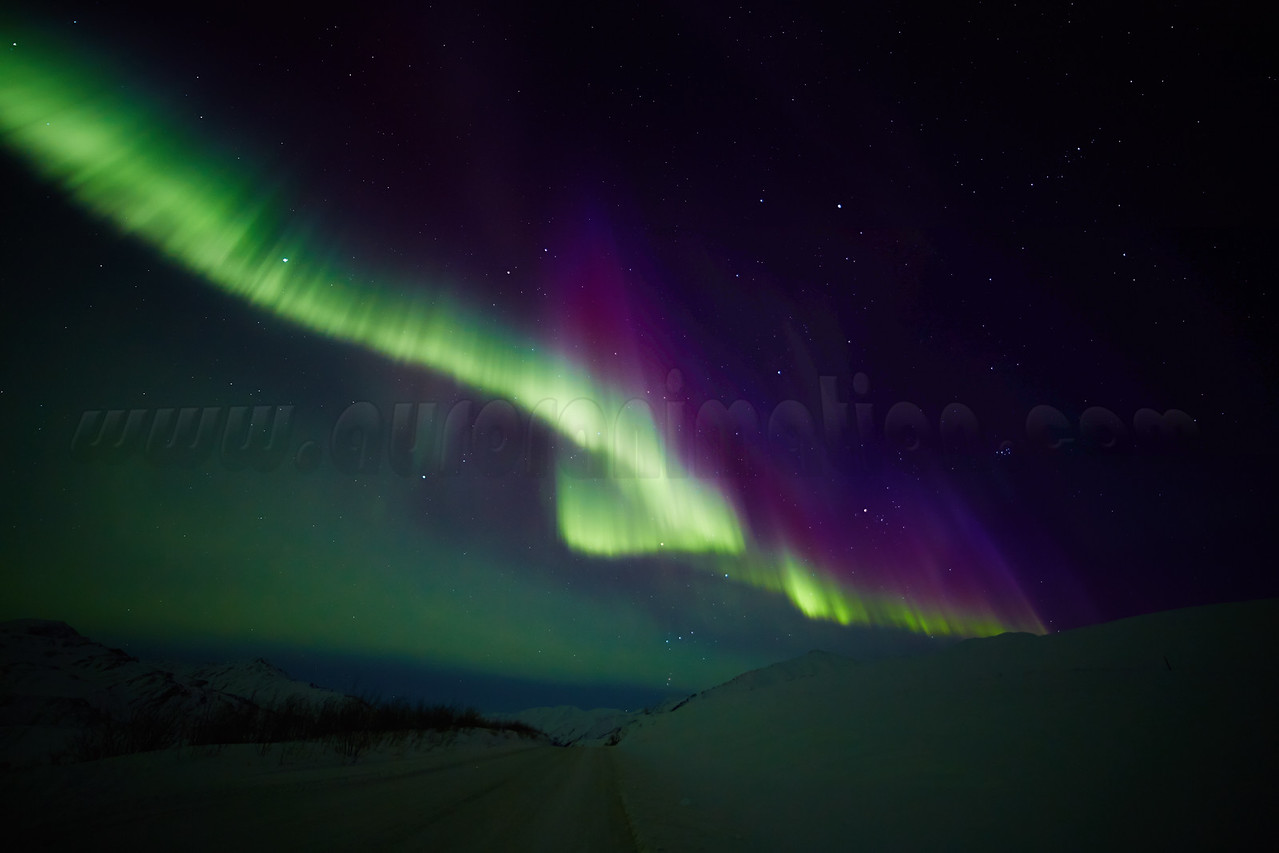 Northern Lights at Atigun Pass on March 21, 2015