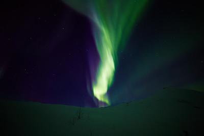 Northern Lights at Atigun Pass on March 21, 2015