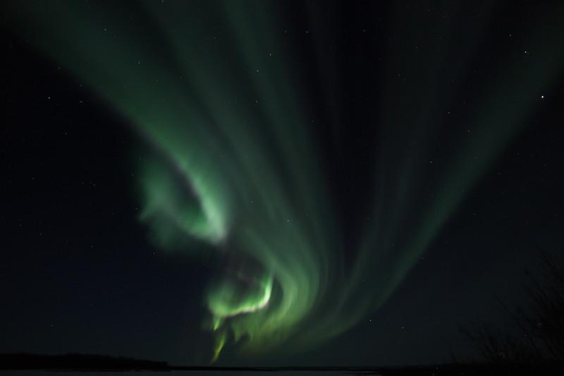 Aurora Borealis at the Yukon River - March 27, 2012 - Circle, Alaska  Camera: Canon EOS 5D Mark II - Lens: Canon EF 14 mm f/2.8L II
