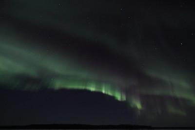 Aurora Borealis at the Yukon River - March 28, 2012 - Circle, Alaska  Camera: Canon EOS 5D Mark II - Lens: Canon EF 14 mm f/2.8L II