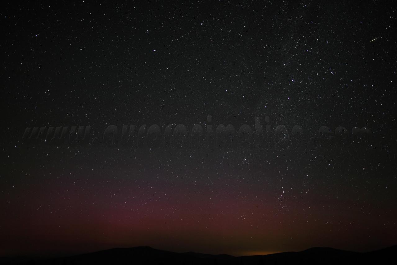 Califorina Northern Lights and Meteor