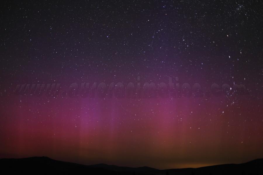 California Aurora:  Mt Shasta on July 15 2012